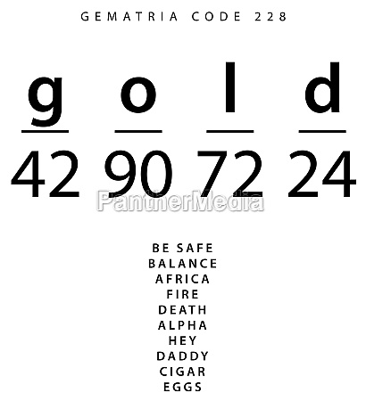 gold word code in the english