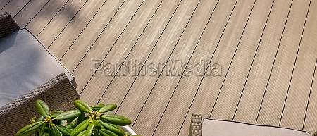 terrace with wpc decking boards banner