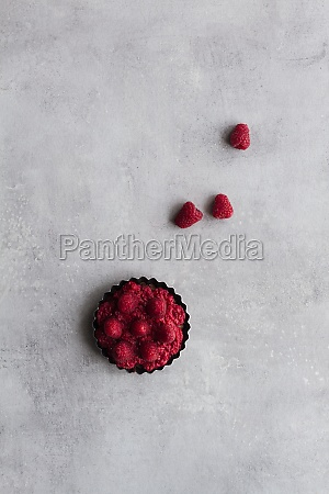 top view of palatable pie with