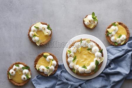 yummy homemade lemon tart with meringue