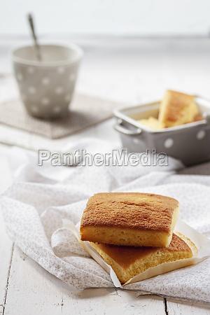 spanish sobao pasiego cakes for breakfast