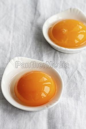 making cloud eggs egg yolks in
