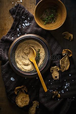 porcini mushroom and thyme salt