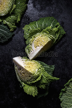 sliced green cabbage