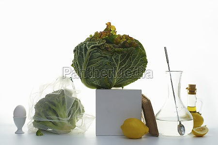 still, life, with, savoy, cabbage, , broccoli - 29876186