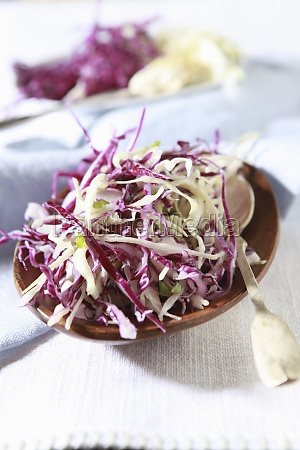 red and white cabbage salad