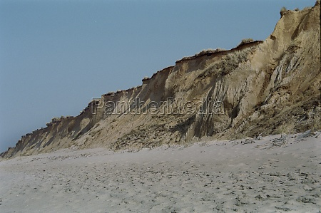 cliff and beach of kampen on