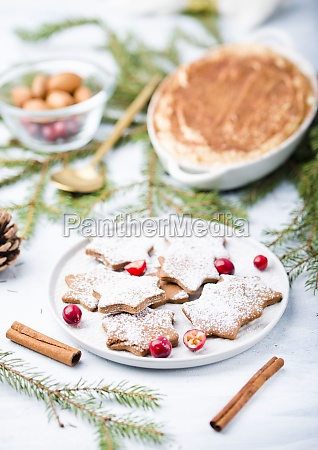 gingerbread with powdered sugar for christmas