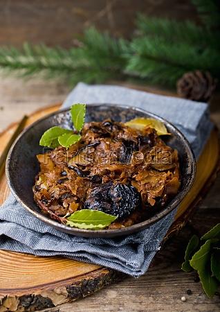 bigos traditional polish cabbage dish