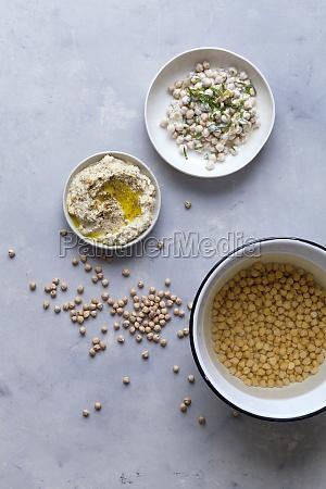 chickpea salad and hummus