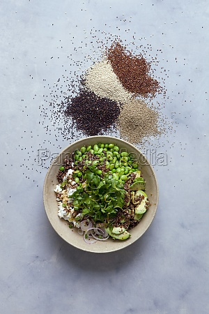 quinoa salad with edamame and fresh