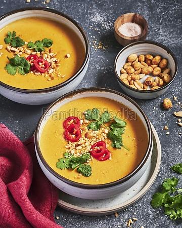 pumpkin and peanut soup