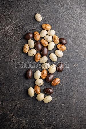 sweet chocolate almonds chocolate eggs