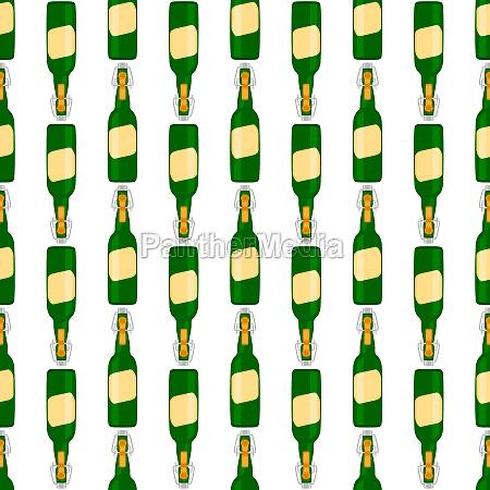 illustration on theme seamless beer glass