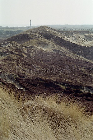 dunes and lighthouse on sylt