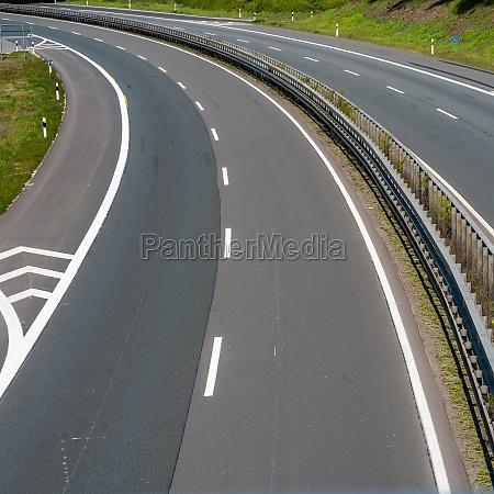 highway trip in europe asphalt road