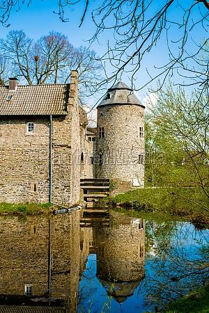 medieval water castle ratingen near dusseldorf
