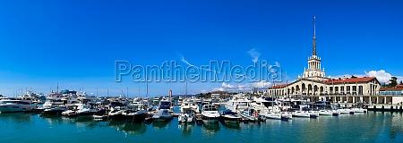 sochi marine station and the yacht
