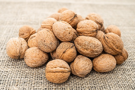 close up view of walnuts on