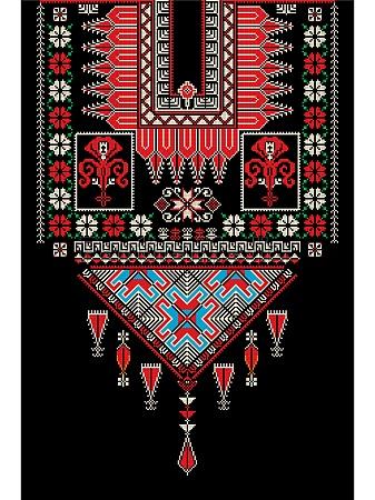 tatreez ornament template 3