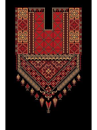 tatreez ornament template 8