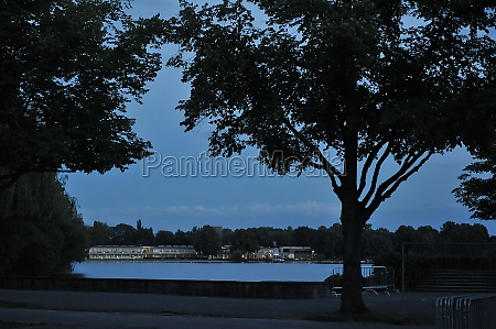 lake maschsee in the evening