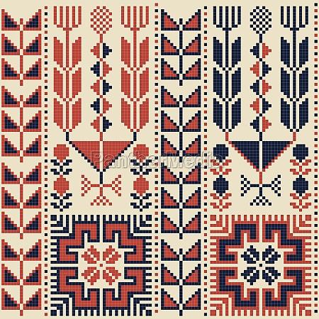 palestinian embroidery pattern