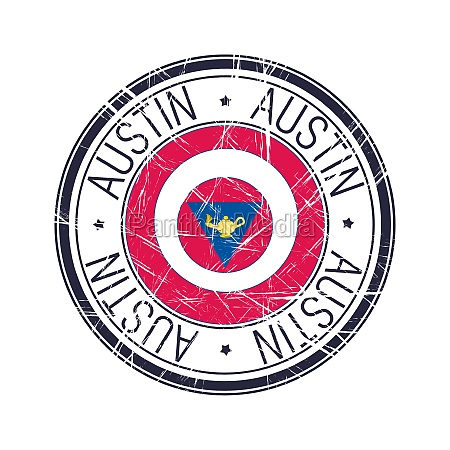 city of austin texas vector stamp