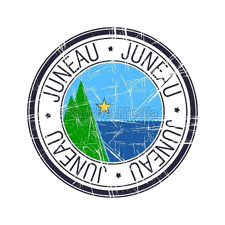 city of juneau alaska vector stamp