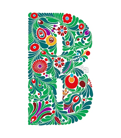 capital letter floral b