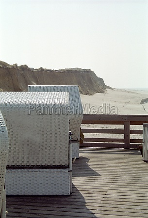 beach chair on the beach of
