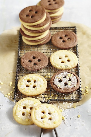 christmas button biscuits