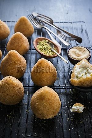pistacchio arancini sicilian stuffed rice balls