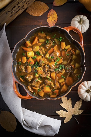 irish stew with pumpkin and guinness