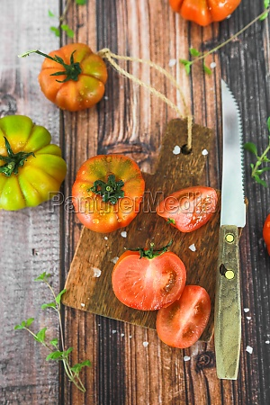 fresh tomatoes freshly picked from the
