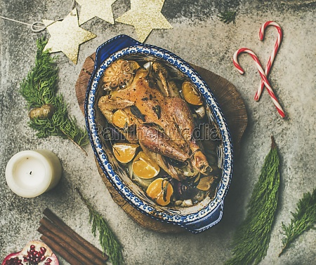roasted chicken for christmas eve celebration