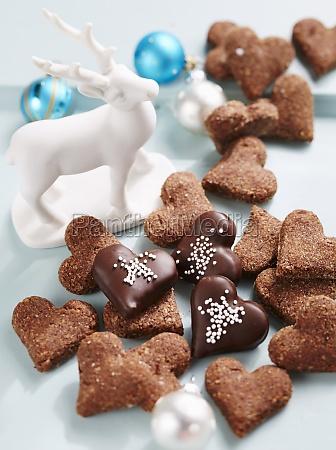 heart shaped christmas cookies switzerland