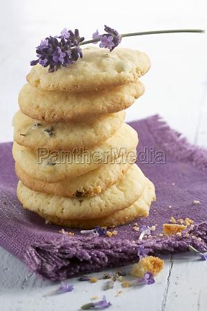 stacked lavender cookies