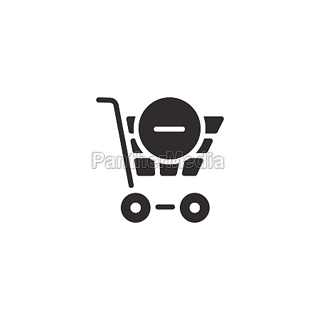 shopping cart delete product isolated icon