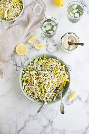 coleslaw with lemon dressing