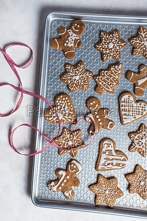 gingerbread biscuits with sugar icing for