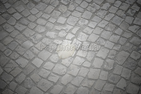 cobblestones in the streets of lisbon