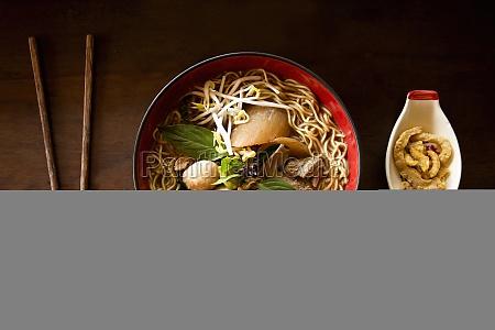 boat noodles or kuaitiao ruea thailand