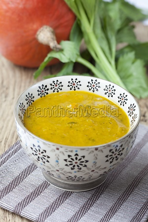 cream of pumpkin soup with celery