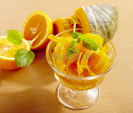 pickled pumpkin with orange and lemon