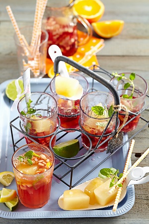 sangria made with rose wine and