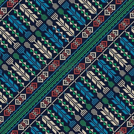 palestinian embroidery pattern 235
