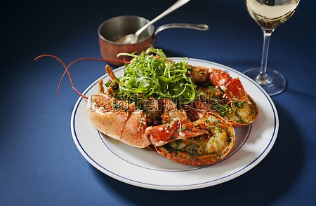 lobster with herbs