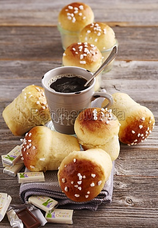 mini sweet bread rolls made in