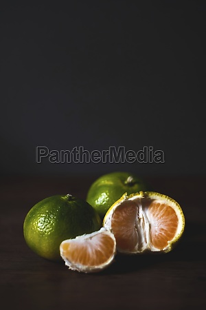 delicious fresh tropical fruits on table
